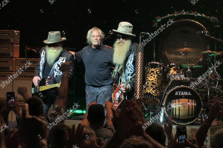 Editorial photo of ZZ Top in concert, Melbourne, Florida, USA - 22 Oct 2019