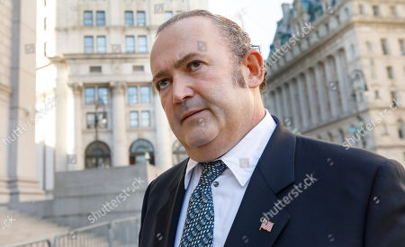 Businessman Igor Fruman, an associate of US President Donald Trump's personal lawyer, Rudy Giuliani, arrives for an arraignment hearing at US Federal Courthouse in New York, New York, USA, 23 October 2019. Fruman, and another man, Lev Parnas, were arrested on 10 October for alleged campaign finance violations.