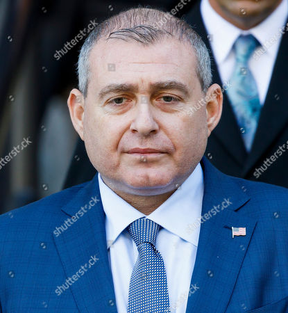 Businessman Lev Parnas, an associate of US President Donald Trump's personal lawyer, Rudy Giuliani, is seen following an arraignment hearing at an US Federal Courthouse in New York, New York, USA, 23 October 2019. Parnas, and another man, Igor Fruman, were arrested on 10 October for alleged campaign finance violations.