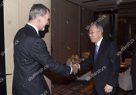 King Felipe VI and Former United Nations Secretary General Ban Ki-moon