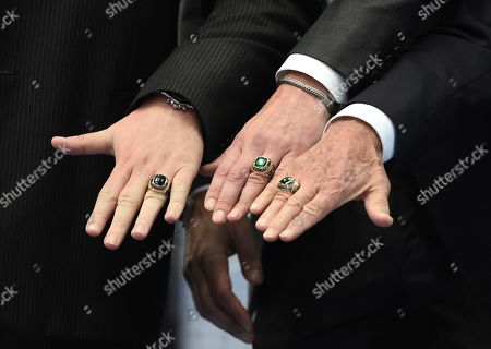 The ceremony of giving the personalized rings of the International Tennis Hall of Fame members Marat Safin and Evgeny Kafelnikov.
