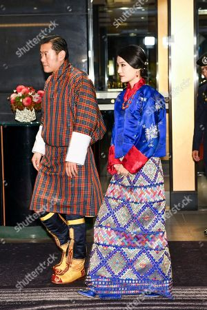 King Jigme Khesar Namgyel Wangchuck and Majesty Queen Jetsun Pema Wangchuck during a Reception at The Ambassador's Residence in Tokyo, Japan