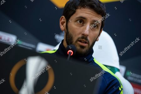 Espanyol's player Esteban Granero during a press conference in Razgrad, Bulgaria, 23 October 2019. PFC Ludogorets will face RCD Espanyol in their UEFA Europa League group stage H soccer match on 24 October 2019.