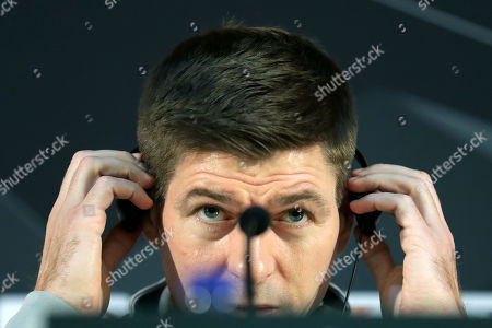 Glasgow Rangers' head coach Steven Gerrard attends a press conference at Dragao Stadium in Porto, Portugal, 23 October 2019. Glasgow Rangers will face FC Porto in their UEFA Europa League group G soccer match on 24 October 2019.