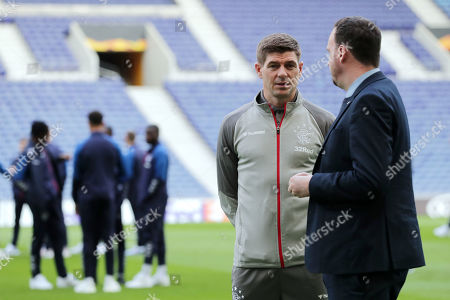 Glasgow Rangers' head coach Steven Gerrard attends a training session at Dragao Stadium in Porto, Portugal, 23 October 2019. Glasgow Rangers will face FC Porto in their UEFA Europa League group G soccer match on 24 October 2019.