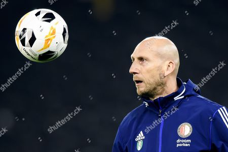 Feyenoord's Head Coach Jaap Stam during a training session, one day prior to the UEFA Europa League group stage group G soccer match between Switzerland's BSC Young Boys Bern and Nederland's Feyernoord Rotterdam, at the Stade de Suisse in Bern, Switzerland, Wednesday, October 23, 2019.