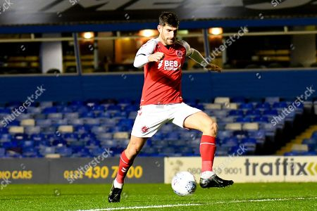 Fleetwood Town forward Ched Evans (9) looks to shoot during the EFL Sky Bet League 1 match between Coventry City and Fleetwood Town at the Trillion Trophy Stadium, Birmingham