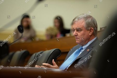 United States Representative Christopher Smith (Republican of New Jersey) listens to Special Representative for Syria Engagement and Special Envoy to the Global Coalition to Defeat ISIS James Jeffrey and Deputy Assistant Secretary, Bureau of European and Eurasian Affairs Matthew A. Palmer testify before the U.S. House Committee on Foreign Affairs