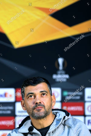 FC Porto head-coach Sergio Conceicao attends a press conference at Dragao Stadium in Porto, Portugal, 23 October 2019. FC Porto will face Glasgow Rangers in their UEFA Europa League group G soccer match on 24 October 2019.