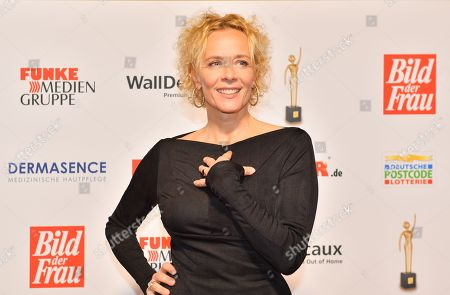 Stock Picture of Katja Riemann attends the 'Goldene Bild der Frau' awards ceremony in Hamburg, Germany, 23 October 2019. The prizes are awarded to women in voluntary positions.