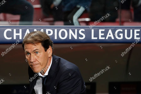 Stock Image of Lyon's head coach Rudi Garcia is seen before the Champions League group G soccer match between Benfica and Olympique Lyonnais at the Luz stadium in Lisbon