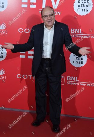Stock Image of Carlo Verdone arrives for the screening of 'El Numero Nueve' at the 14th annual Rome Film Festival, in Rome, Italy, 23 October 2019. The movie is presented in the 'Alice nella citta' section at the festival running from 17 to 27 October 2019.