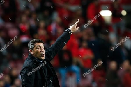 Stock Photo of Benfica's head coach Bruno Lage during their UEFA Champions League group G soccer match held at Luz Stadium, in Lisbon, Portugal, 23 October 2019.