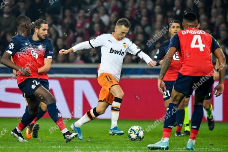 Stock Picture of Valencia's Denis Cheryshev in action during the UEFA Champions League soccer Group H match between OSC Lille and Valencia CF at the Pierre Mauroy Stadium in Villeneuve-d'Ascq, near Lille, France, 23 October 2019.
