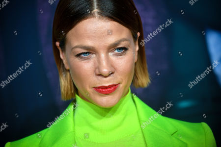 Stock Photo of Jessica Schwarz poses on the red carpet prior to the premiere of 'Das perfekte Geheimnis' (lit.: The perfect secret) in Cologne, Germany, 23 October 2019. The movie will be shown in German cinemas from 31 October 2019 on.