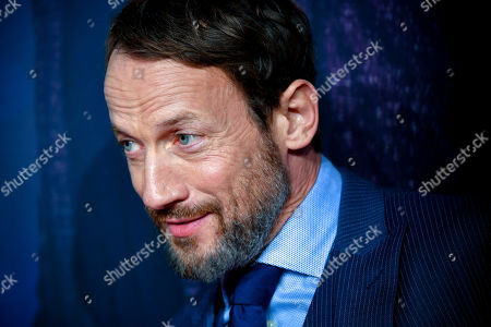 Stock Image of Wotan Wilke Moehring poses on the red carpet prior to the premiere of 'Das perfekte Geheimnis' (lit.: The perfect secret) in Cologne, Germany, 23 October 2019. The movie will be shown in German cinemas from 31 October 2019 on.