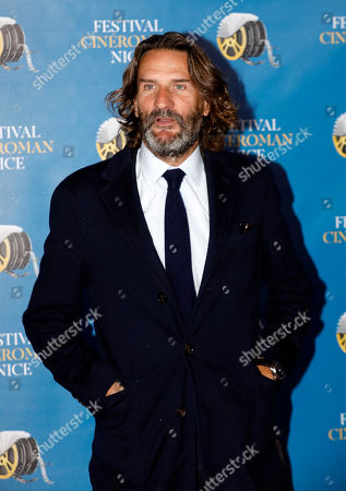 Stock Picture of Frederic Beigbeder arrives at the Festival Cine Roman 2019 in Nice, France, 23 October 2019. The festival runs from 23 to 26 October.