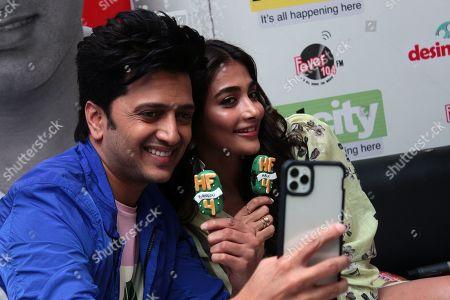 Stock Photo of Pooja Hegde and Riteish Deshmukh
