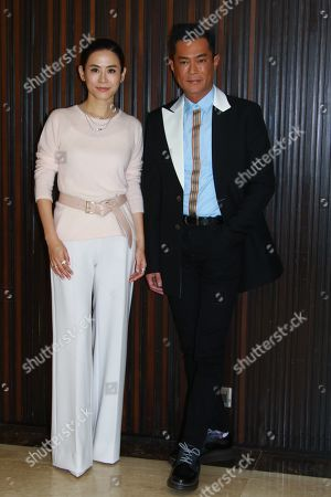 Stock Picture of Jessica Hester Hsuan and Louis Koo