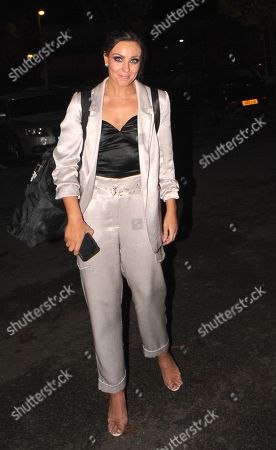 Amy Dowden is all smiles arriving back Her London Hotel after Saturdays Strictly Performance