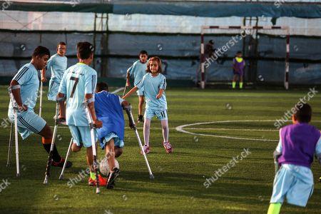 Editorial photo of Palestinian amputees soccer training, Deir al-Balah, Gaza City, Palestinian Territories - 23 Oct 2019