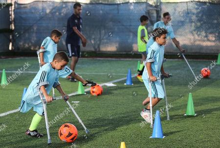 Editorial picture of Palestinian amputees soccer training, Deir al-Balah, Gaza City, Palestinian Territories - 23 Oct 2019