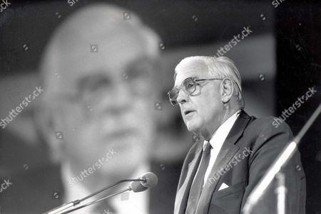 Marmaduke Hussey Speaking At The Albert Hall... Lord (marmaduke) Hussey - 1988