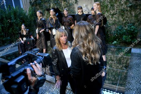 Stock Image of Simonetta Ravizza interviewed