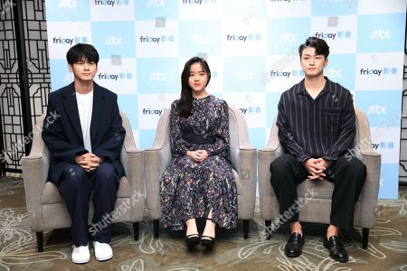 Stock Photo of Ong Seong-wu, Kim Hyang Gi and Seung-ho Shin