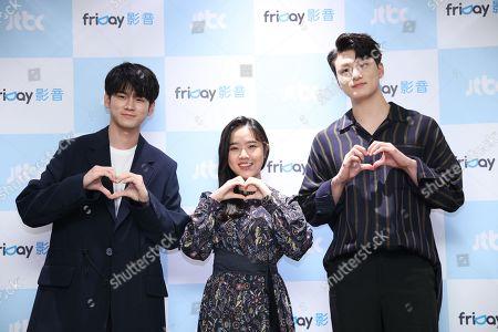 Stock Image of Ong Seong-wu, Kim Hyang Gi and Seung-ho Shin