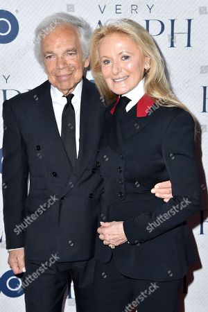 Stock Picture of Ralph Lauren and Ricky Lauren
