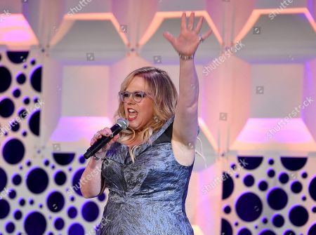 Kirsten Vangsness performs at the 71st Engineering Emmy Awards, presented by the Television Academy at the JW Marriott Los Angeles L.A. LIVE hotel on in Los Angeles