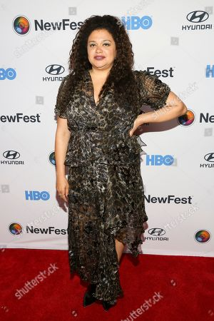 """Michelle Buteau attends the NewFest LGBTQ film festival opening night gala screening of """"Sell By,"""" at the SVA Theatre, in New York"""