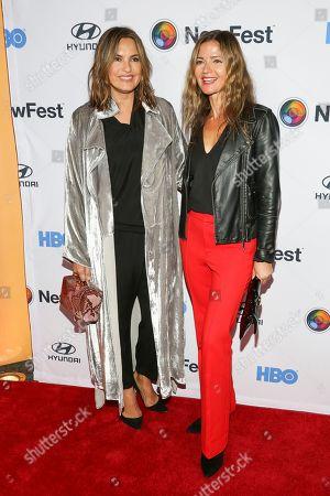 """Mariska Hargitay, Jill Hennessy. Mariska Hargitay, left, and Jill Hennessy, attend the NewFest LGBTQ film festival opening night gala screening of """"Sell By"""" at the SVA Theatre, in New York"""