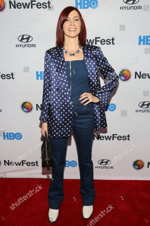 """Carrie Preston attends the NewFest LGBTQ film festival opening night gala screening of """"Sell By"""" at the SVA Theatre, in New York"""