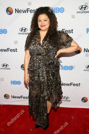 """Michelle Buteau attends the NewFest LGBTQ film festival opening night gala screening of """"Sell By"""" at the SVA Theatre, in New York"""