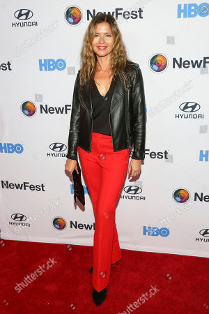 """Jill Hennessy attends the NewFest LGBTQ film festival opening night gala screening of """"Sell By"""" at the SVA Theatre, in New York"""
