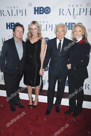 Michael J Fox, Tracy Pollan, Ralph Lauren and Ricky Lauren
