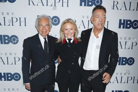 Ralph Lauren, Ricky Lauren and Bruce Springsteen