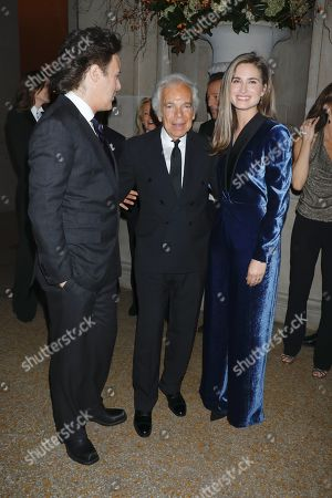 Stock Photo of David Lauren, Ralph Lauren and Lauren Bush