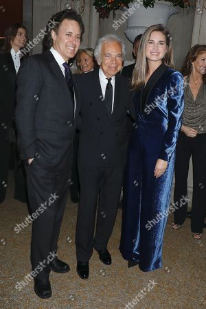 Stock Picture of David Lauren, Ralph Lauren and Lauren Bush