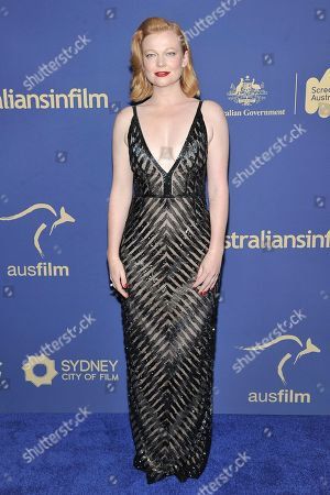 Sarah Snook attends the 8th Annual Australians in Film Awards at the InterContinental Hotel, in Los Angeles