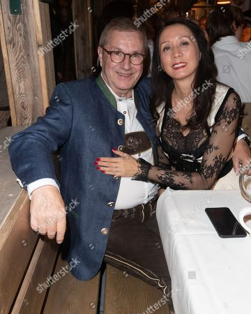 Jan Hofer with wife Phong Lan Hofer