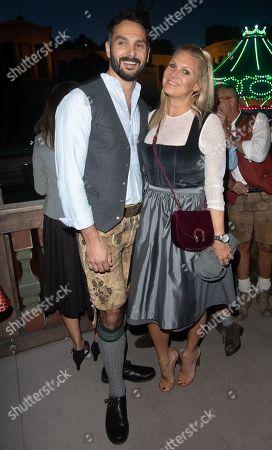 Magdalena Brzeska with boyfriend Roland