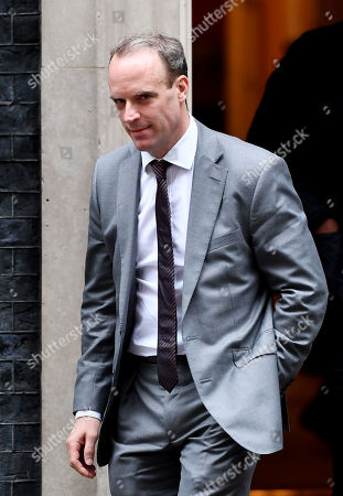 Dominic Raab, Foreign Secretary, leaving a cabinet meeting at No.10 Downing Street, London.