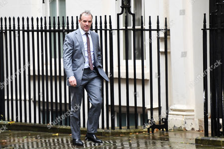 Dominic Raab, Foreign Secretary, arriving for a political cabinet meeting at No.10 Downing Street, London.