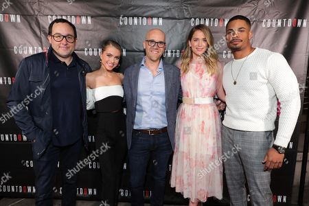 P.J.Byrne, Anne Winters, Writer/Director Justin Dec, Elizabeth Lail and Jordan Calloway