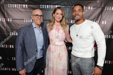 Writer/Director Justin Dec, Elizabeth Lail and Jordan Calloway