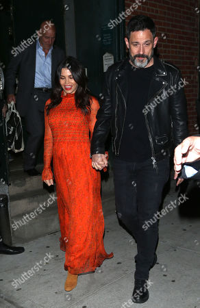 Editorial photo of Jenna Dewan and Steve Kazee out and about, New York, USA - 23 Oct 2019