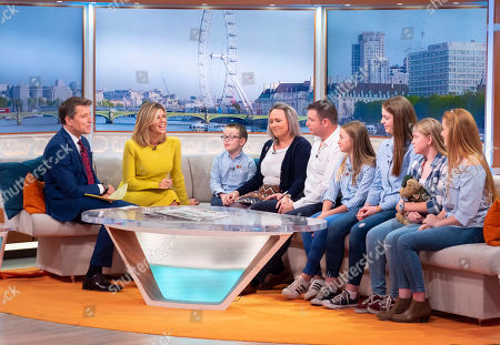 Stock Image of Ben Shephard, Kate Garraway with Alan White and Family